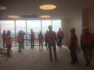 UB EM Residents and Faculty tour the Emergency Department and floors of John R. Oishei Children's Hospital when it was construction.