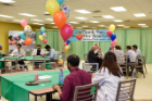 Residents enjoying lunch sponsored by ECMC physicians in honor of Thank A Resident Week, February 15-22, 2019.