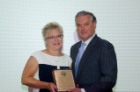 Elaine C. Taylor, who has served the Department of Ophthalmology for 30 years, received the John P. Naughton Award.