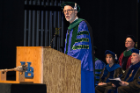 Kenneth H. Fischbeck, MD, gives the keynote address at the biomedical sciences commencement ceremony.