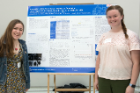 Tessa DeCicco, right, and Iris Izydorczak — from Amherst Central High School — are two of the students who worked on a project related to annotation of the Kytococcus sedentarius genome.