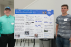 "Students from Westfield Academy and Central School — Dustin Strain, left, and Lincoln Paternosh — presented a poster titled ""Russian Bigfoot or Invasive Raccoon? Sequence >KJ155711.1."""