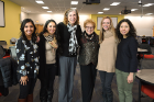 From left: Natasha Singh, Simranjit Kaur, Elizabeth Repasky, Sylvia Regalla, Emily Nehl and Mika Connolly.