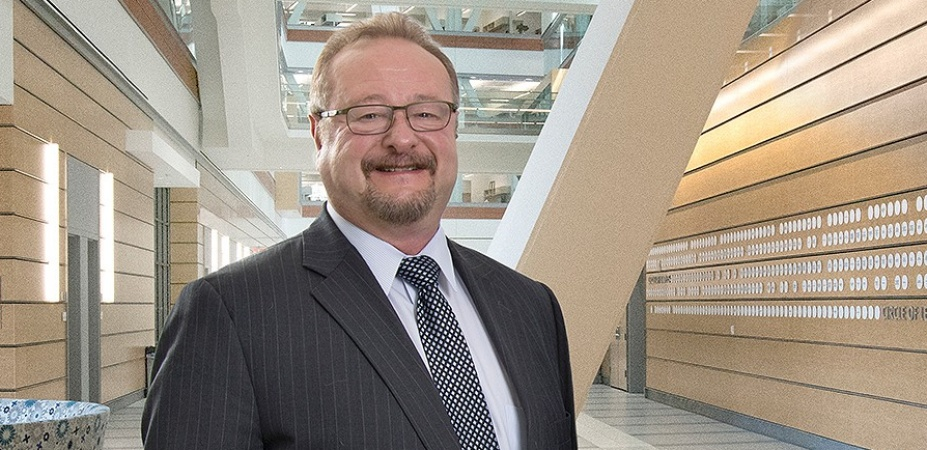 Peter Elkin in a computing facility.