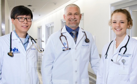 Ju Joh, MD, resident; Robert Lugo, MD; Meghan Dioguardi, medical student.