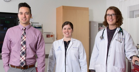 Casey White, MD, resident; Kelly Berchou, MD; Erin Conway, MD.