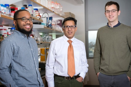 Rasheen Powell PhD Student; Arin Bhattacharjee PhD; Garrett Sheehan PhD Student.