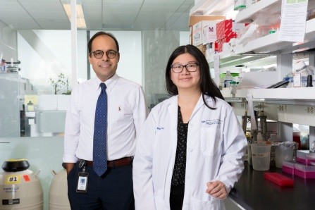 Umesh Sharma MD; Shirley Xu PhD Student.