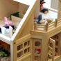Child's dollhouse and toys.