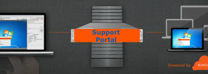 Image showing User support portal powered by Bomgar.