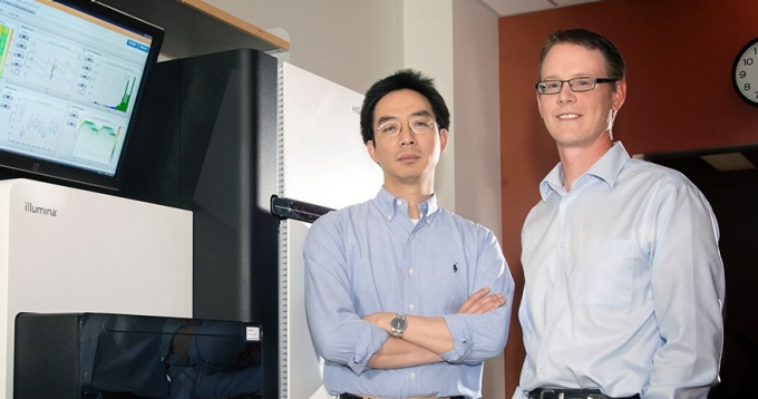 Yijun Sun, PhD, and Michael Buck, PhD.