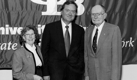 Kelly Ellis, Tim Russert, George Ellis.