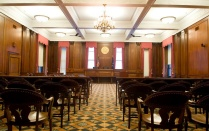 Courtroom at the Erie County Courthouse.