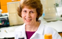 Suzanne Laychock, PhD, in her lab.